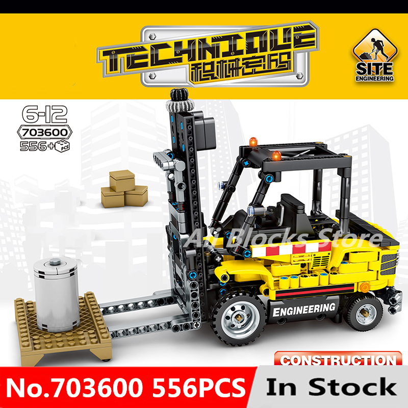 Technic Series Engineering Forklift Kits Model Set Building technic Blocks Bricks Toys For Children Kid Birthday Gifts