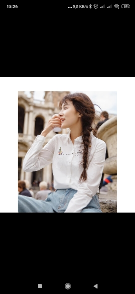 Autumn New Arrival Cotton Literary Retro Romantic Embroidery Long Sleeve Women Blouse photo review