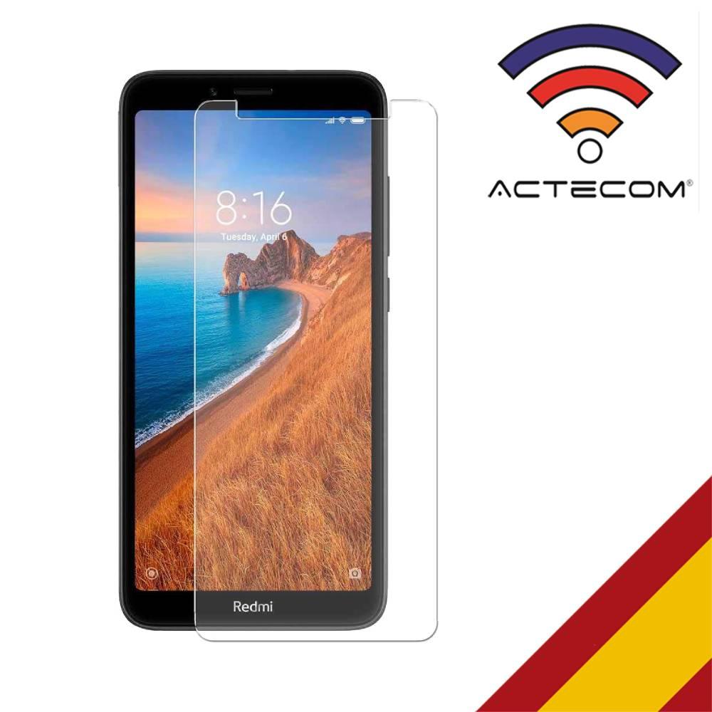 ACTECOM Protector De Pantalla Para Xiaomi Redmi 7A Cristal Templado Premium 0,3mm 9H 2.5D Vidrio Tempered Glass