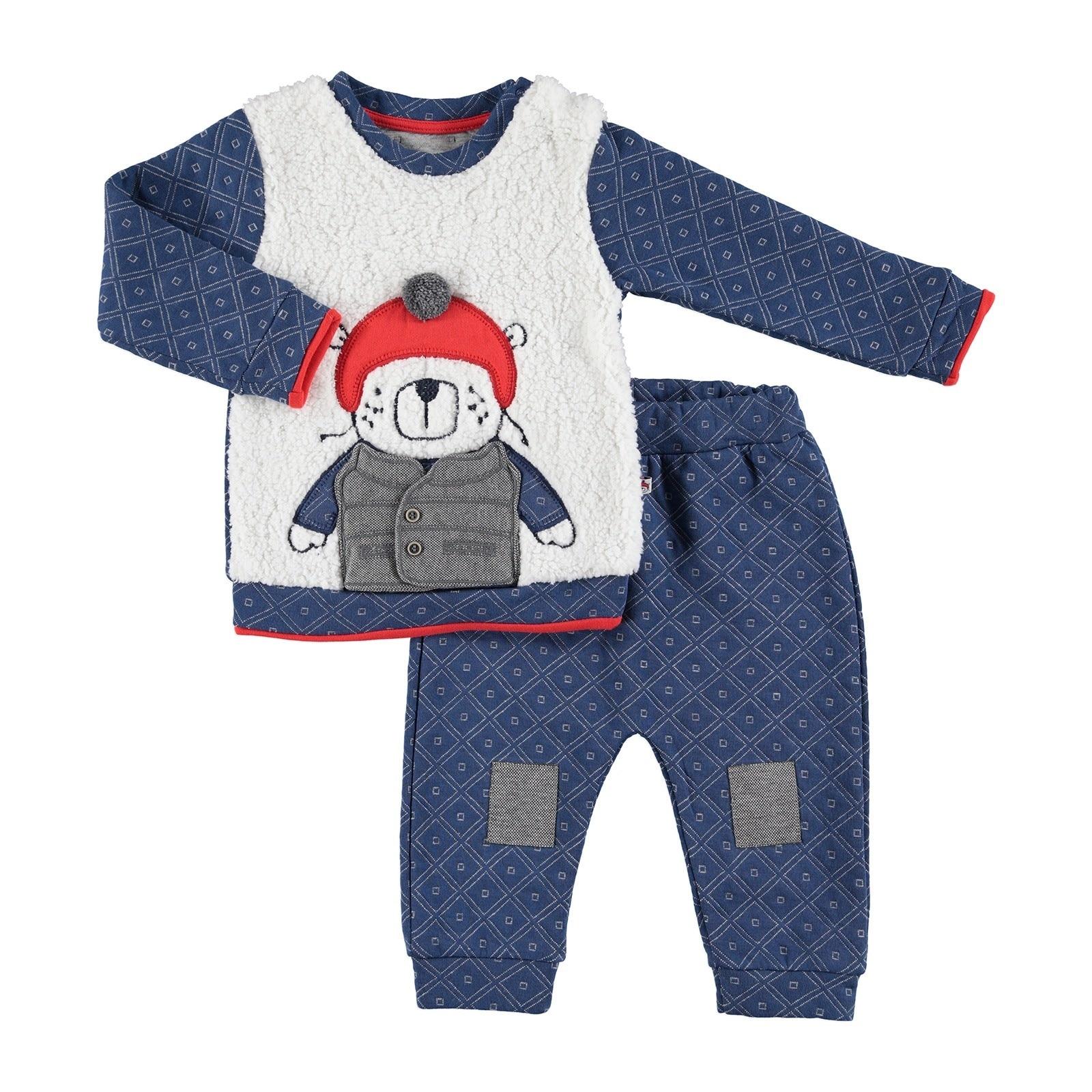 Ebebek Mymio Skateboarder Bear Baby Sweatshirt Trouser Set
