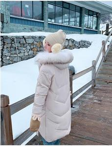 Image 2 - Abrigo de invierno ins super fire, ropa de invierno, novedad de 2019, chaqueta acolchada de algodón con cuello de pelo grande, estilo largo, versátil