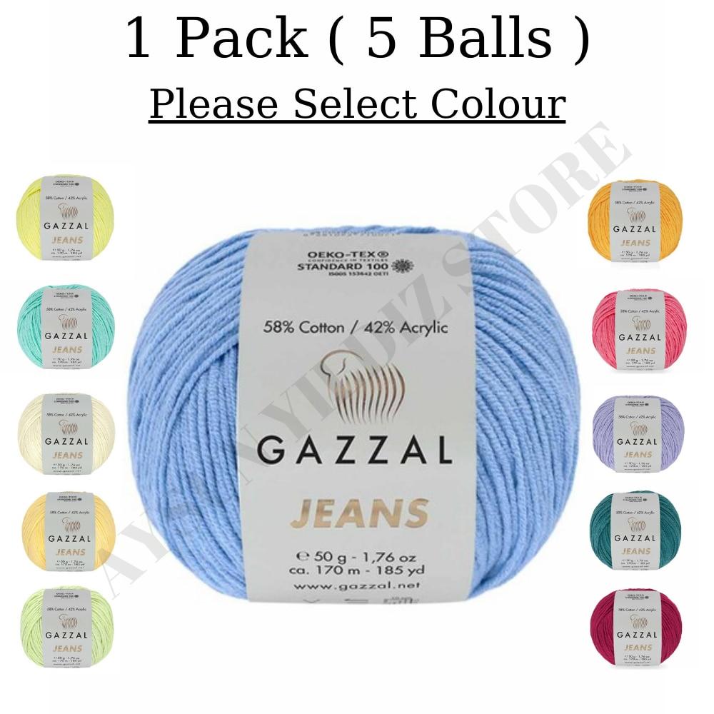 1 упаковка (5 шариков) газзал джинсы пряжа 50 г 170 Mt. все цвета на выбор набор инструментов для вязания крючком нить|Нитки для пряжи| | АлиЭкспресс