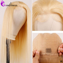 Brazilian Straight 613 Lace Front Wig 613 Lace Frontal Wig 13x4 Blonde Human Hair Wig Transparent Lace 26 28 Inch 613 Lace Wigs