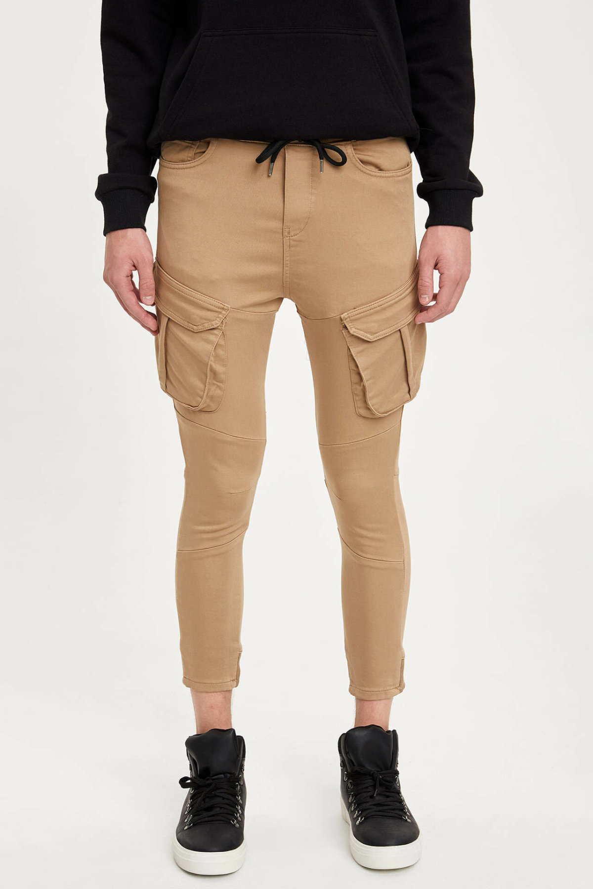 DeFacto Man Autumn Khaki Pencil Pants Men Fit Slim Ninth Pants Casual Bottom Trousers Male Mid-waist Long Pants-M5733AZ19AU