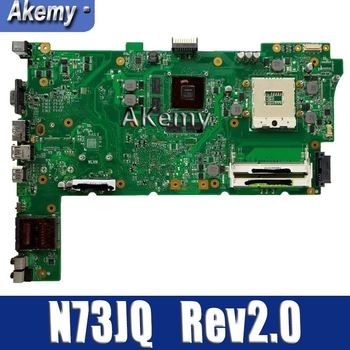 Amazoon  For Asus N73JQ N73JF Motherboard 60-NZXMB1100-E18 Main Board 8 Memory Rev2.0 Mainboard 100% tested ok