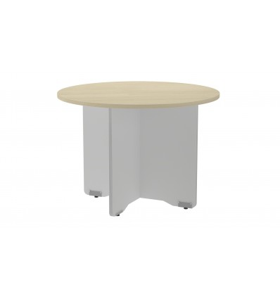MEETING TABLE ROUND 100CM IN DIAMETER HEIGHT 72CM COLOR: PAW ALUMINUM/BOARD HAS