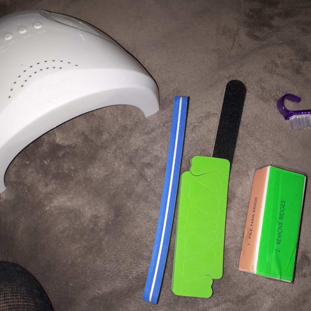 Nail Set UV LED Lamp Dryer With Nail Gel Polish photo review