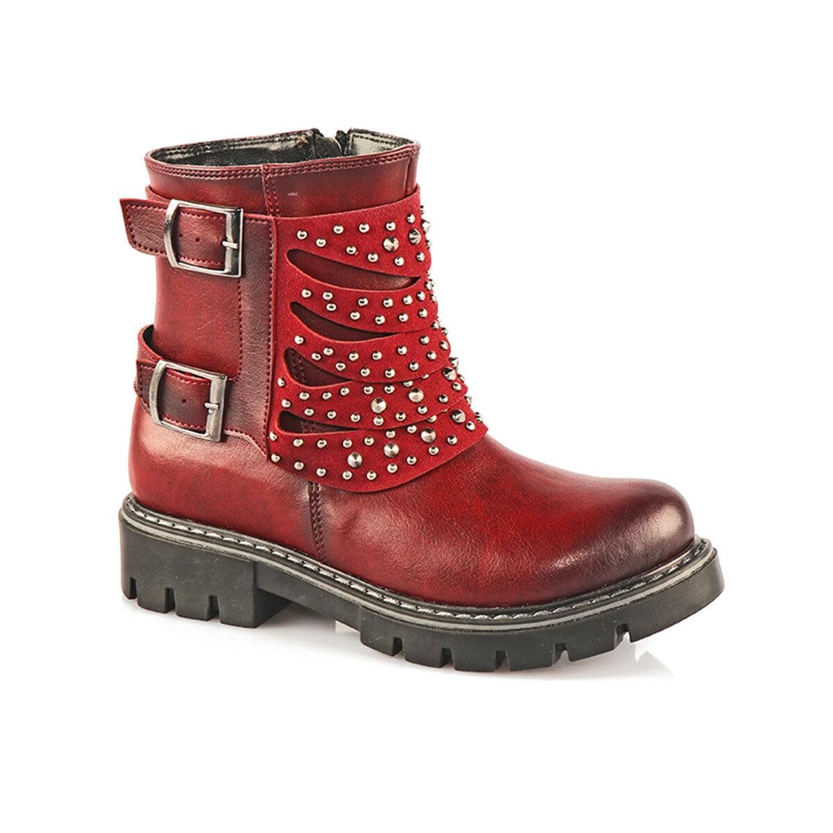 FLO 955. V.269 SD Maroon Female Child Boots VICCO