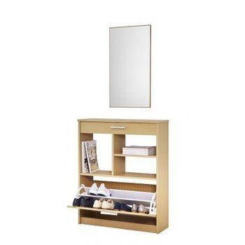TOPKIT shoe cabinet shoe rack receiver cabinet drawer cabinet and balda measures 93x76x25 cm