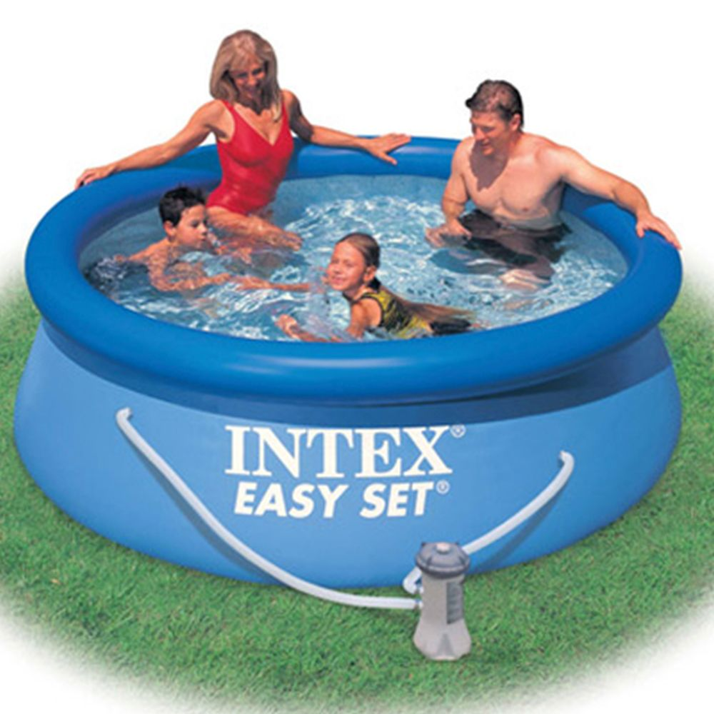 Intex Swimming Pool Inflatable Easy Set 244x76 Cm 2419л, Pump With Filter 1250л/H 28112