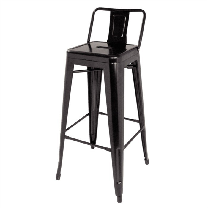 Stool TOL MAR, Steel, Black