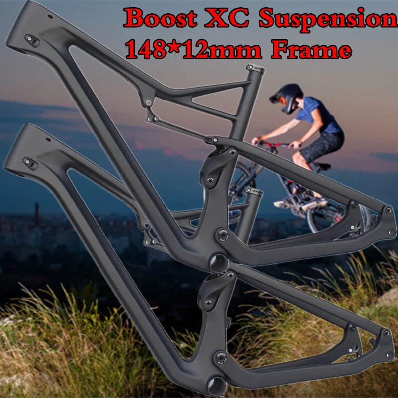 27.5er Carbon-Mtb-Frame Bike Disc-Brake Mountain-Bicycle BB92 Boost Full-Suspension 29er Cross Country Mountain Bicycle Frame