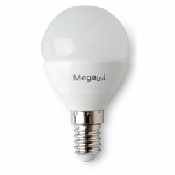 Sferyczna żarówka LED MegaLed GIG14E P45 4 5W E14 2700K 380 lm ciepła  jasna na