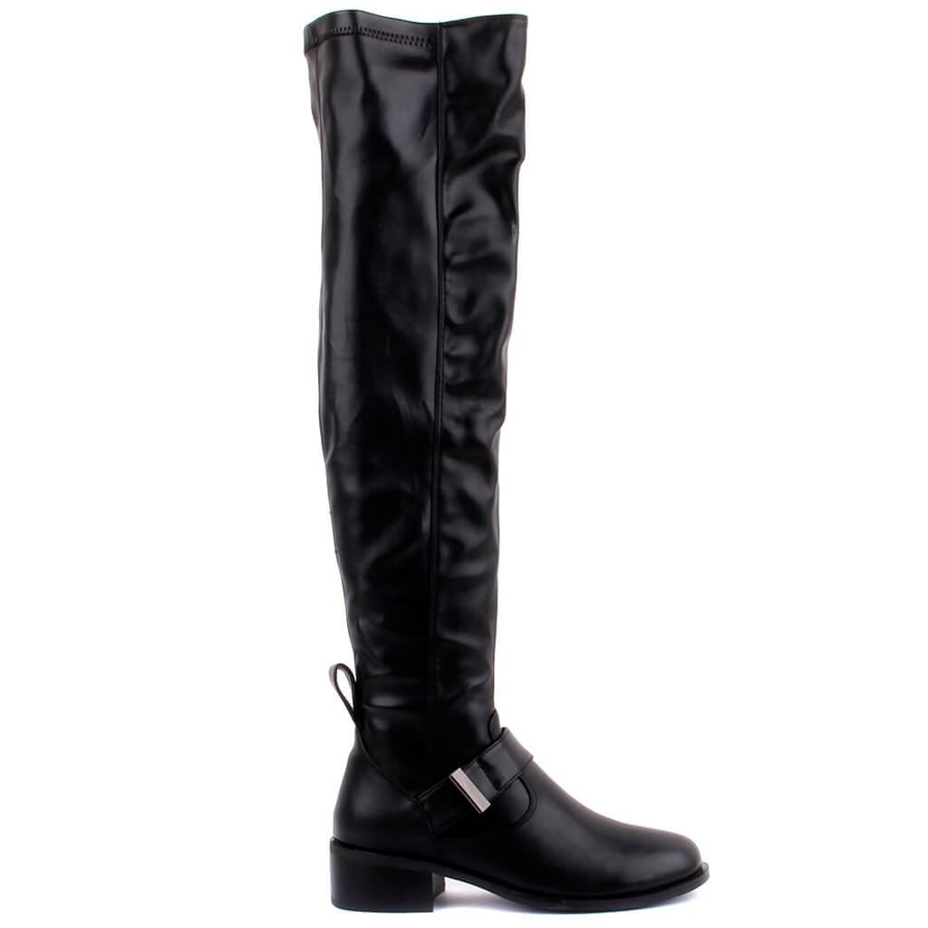 Guja-Black Zipper Women Boots