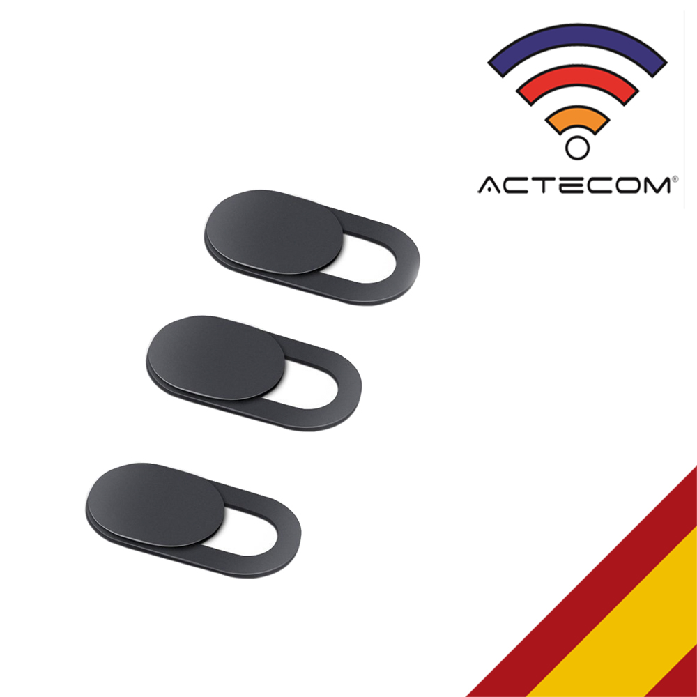ACTECOM 3x Cubierta Webcam Cover Slider Diseño Ultra Fino Camera Cover Tapa Webcam Para Todo Tipo De Ordenadores Portátiles