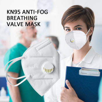 Reusable KN95 Mask - Valved Face Mask N95 Protection Face Mask FFP1 FFP2 FFP3 Mouth Cover Pm2.5 Dust Masks 6 Layers Filter 1