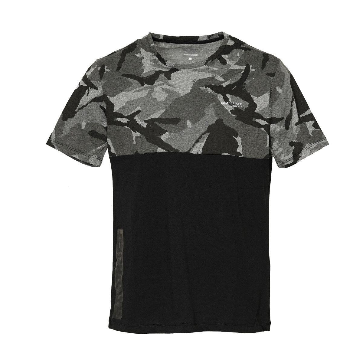 FLO M-18131 ALVİNA KK TSHIRT Black Male T-Shirt LUMBERJACK