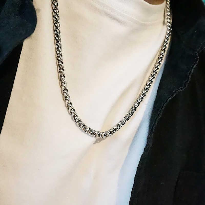 Mcllroy Hip Hop 50 Cm-80 Cm Lange Kettingen Rvs Heren Ketting Curb Cubaanse Ketting Punk rock Man Sieraden 2019