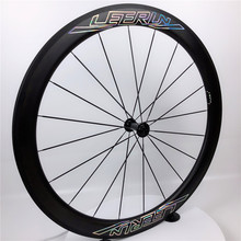цена на Top Sale Ultra Light 700c 38mm 50mm Carbon Wheels Clincher Tubular Tubeless with SAPIM Spokes Ceramic Bearing Hub for Road Bike