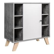 Mueble de baño moderno debajo del fregadero, armario de baño para almacenamiento con puertas, Unidad de tocador, armario con patas, caja organizadora