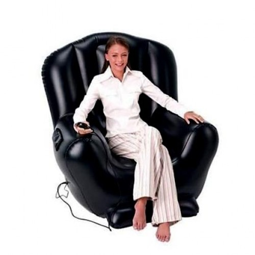 Massage Inflatable Chair 114 х99х112 Cm, Black, Bestway, Item No. 75040
