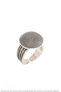 Hand Job Winding Midyat Silver Lady Ring