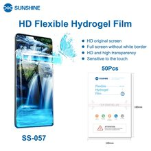 SUNSHINE SS-057 50pcs Flexible Hydrogel Film Sheet Screen Protectors for Mobile Phones Front Film Cut For SS-890C Machine Cutter