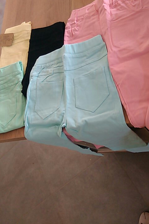 VEENIBEAR Spring Summer Girl Pants Candy Color Cotton Girl Leggings Children Kids Pants Slim Pencil Pants For Girl Age 3 9T-in Pants from Mother & Kids on AliExpress