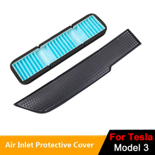 New Car Air Inlet Cover With Filter For Tesla Model 3 Anti-clogging Model3 Intake Vent Protective Cover Air Filter Accessories