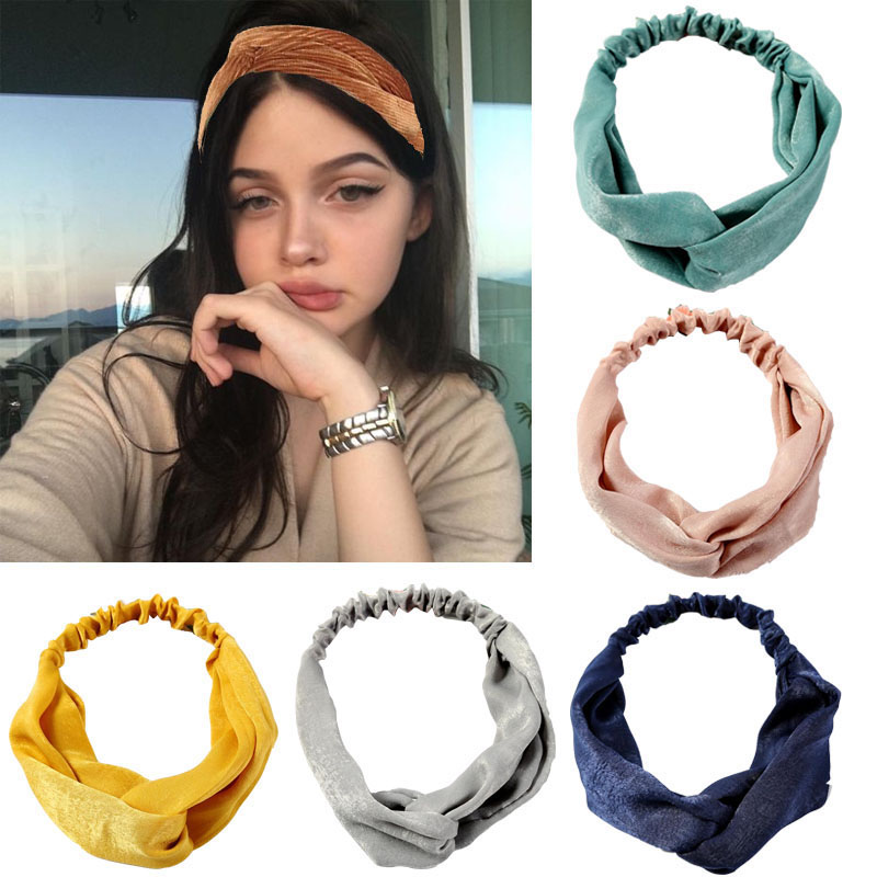 Fashion Headbands Cross Knot Elastic Hair Bands  Bandage Bandanas HairBand Hair Accessories Headwrap Headwear