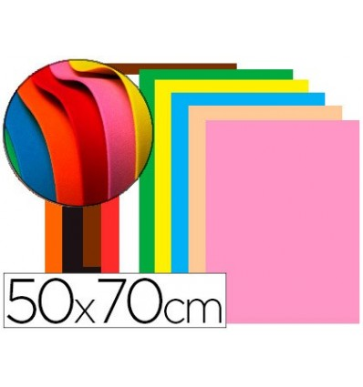 EVA RUBBER LEADERPAPER 50X70CM 60G/M2 THICKNESS 1,5MM ASSORTED COLORS 10 Pcs