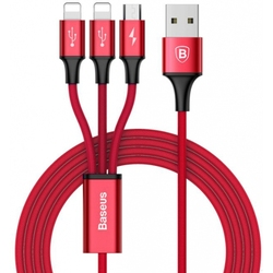 Kabel USB 3 in1 microUSB/8pin dla iPhone 5/6/7/type-c baseus dostawca 1 2 m