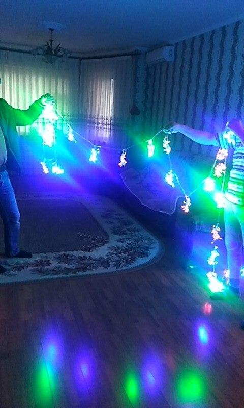 Fios de LED Partido Partido Curtain
