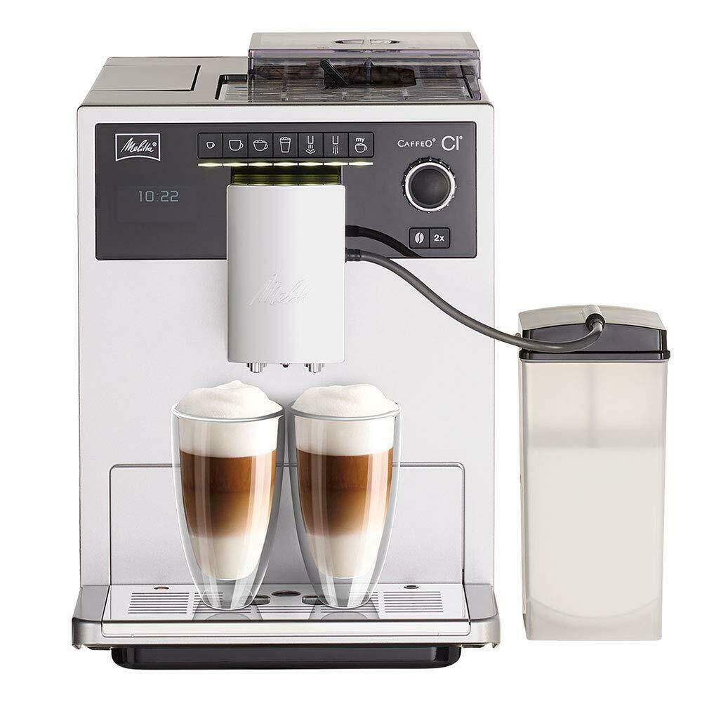 Автоматическая кофемашина Melitta Caffeo E 970-101 CI, серебристый цена и фото