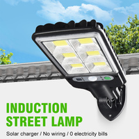 Lámpara Solar LED impermeable para exteriores, luz de jardín, iluminación de seguridad, de pared, Sensor de movimiento PIR, potente, 1 ud.