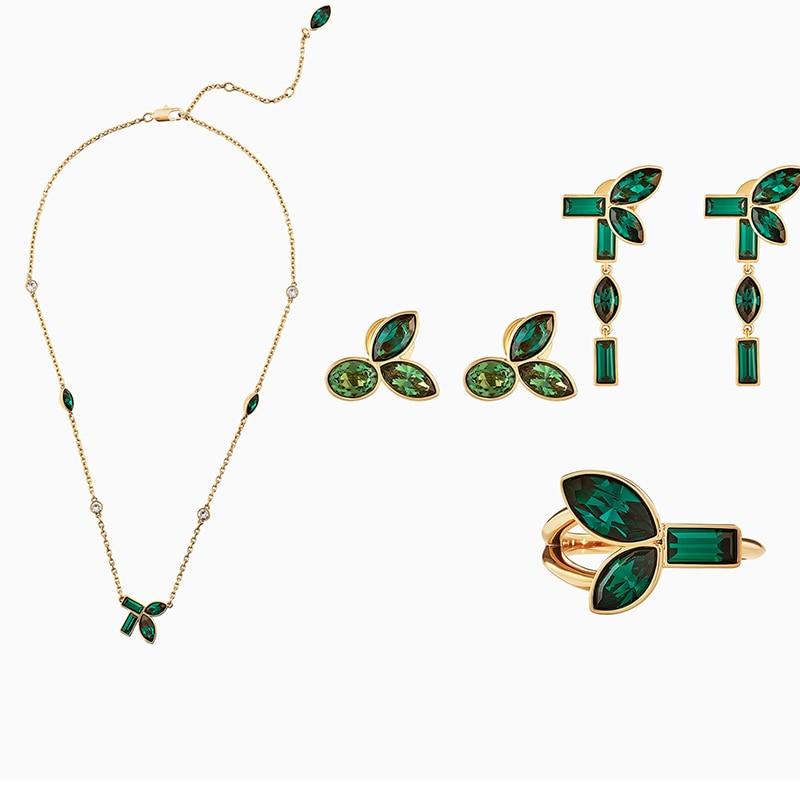 New Product Minimum Discount 14% SWA 2020 Bamboo Pierced Green Earring Jackets Send Girlfriend Birthday Engagement Romantic Gift