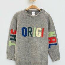DeFacto/Модная толстовка с круглым вырезом для мальчиков Детский Повседневный пуловер с длинными рукавами и буквенным принтом осенние спортивные топы для мальчиков, L3087A219AU