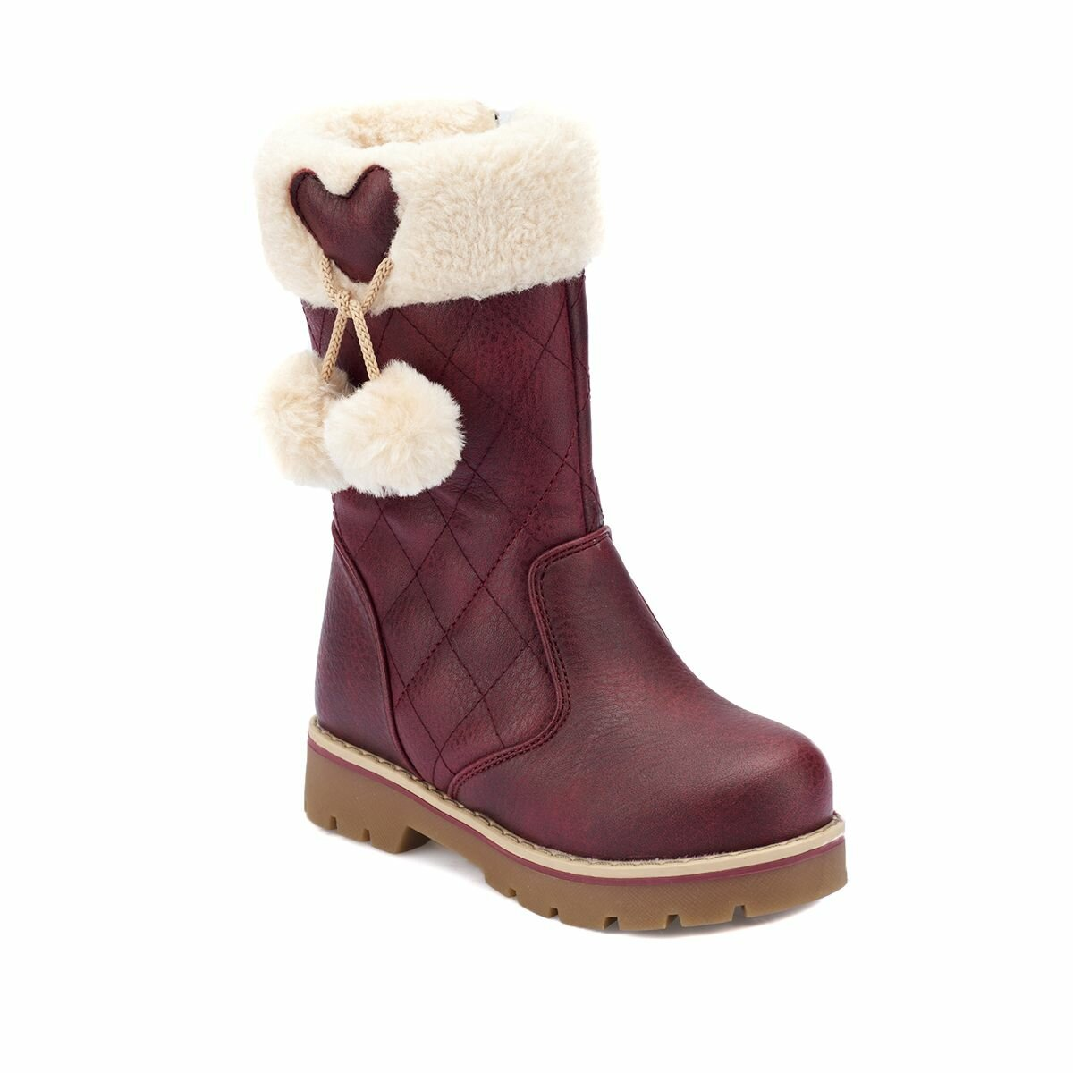FLO 82.509618.P Burgundy Female Child Boots Polaris