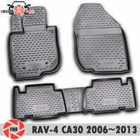 Floor mats for Toyota Rav4 CA30 2006~2010 rugs non slip polyurethane dirt protection interior car styling accessories