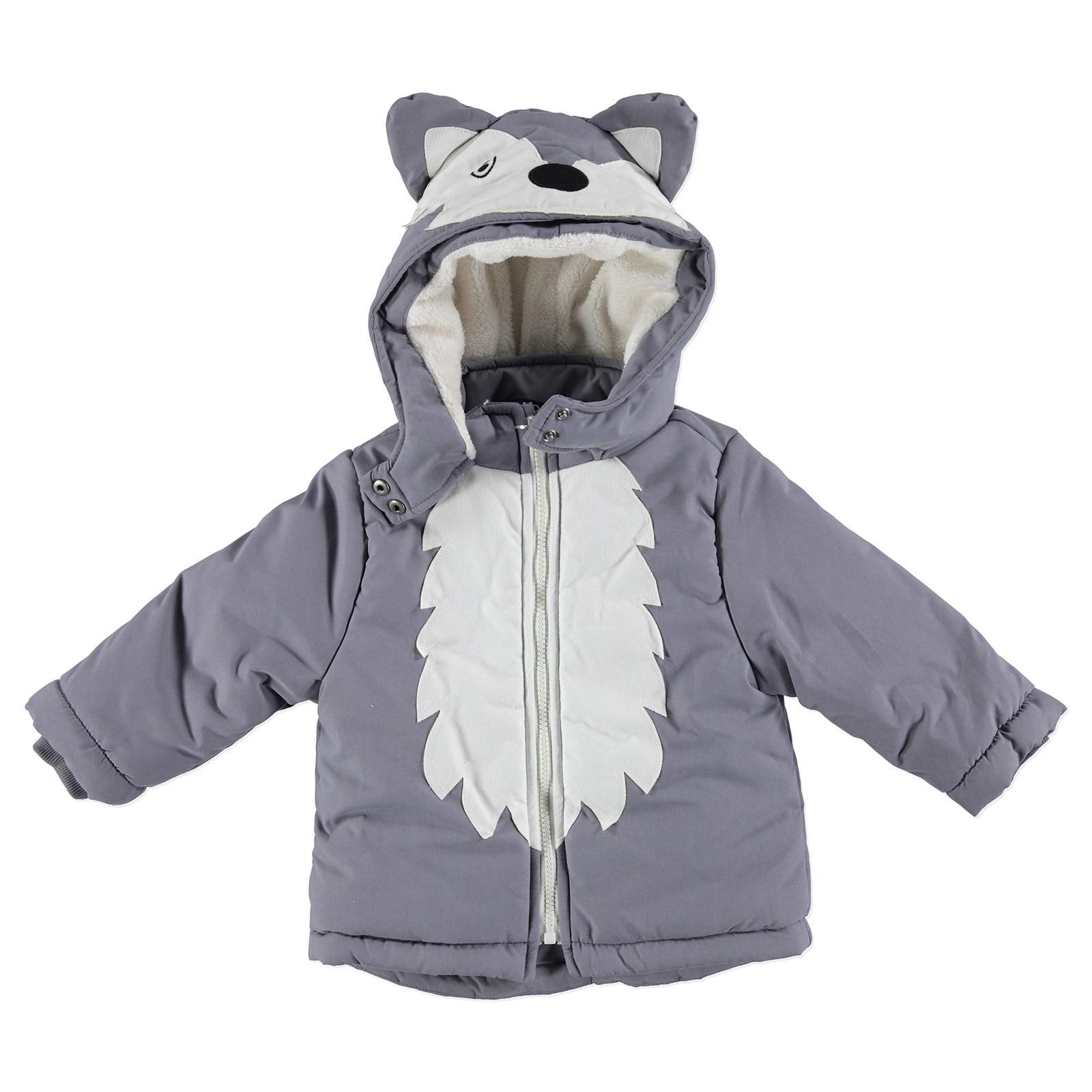 Ebebek Midimod Baby Boy Little Fox Water Repellent 3D Coat