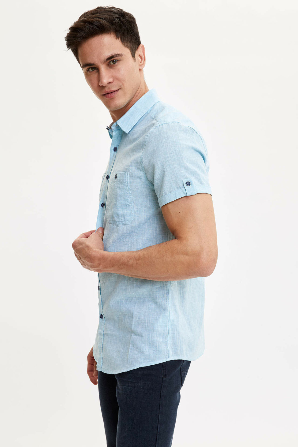 DeFacto Man Short Sleeve Shirt-M3454AZ19SM