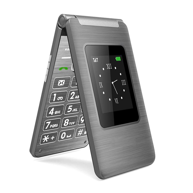 2020 Top Selling Dual Screen Flip Mobile Phone 2.8 Inch MTK Dual SIM Card GSM FM Bussines Clamshell Cellphone Telefon