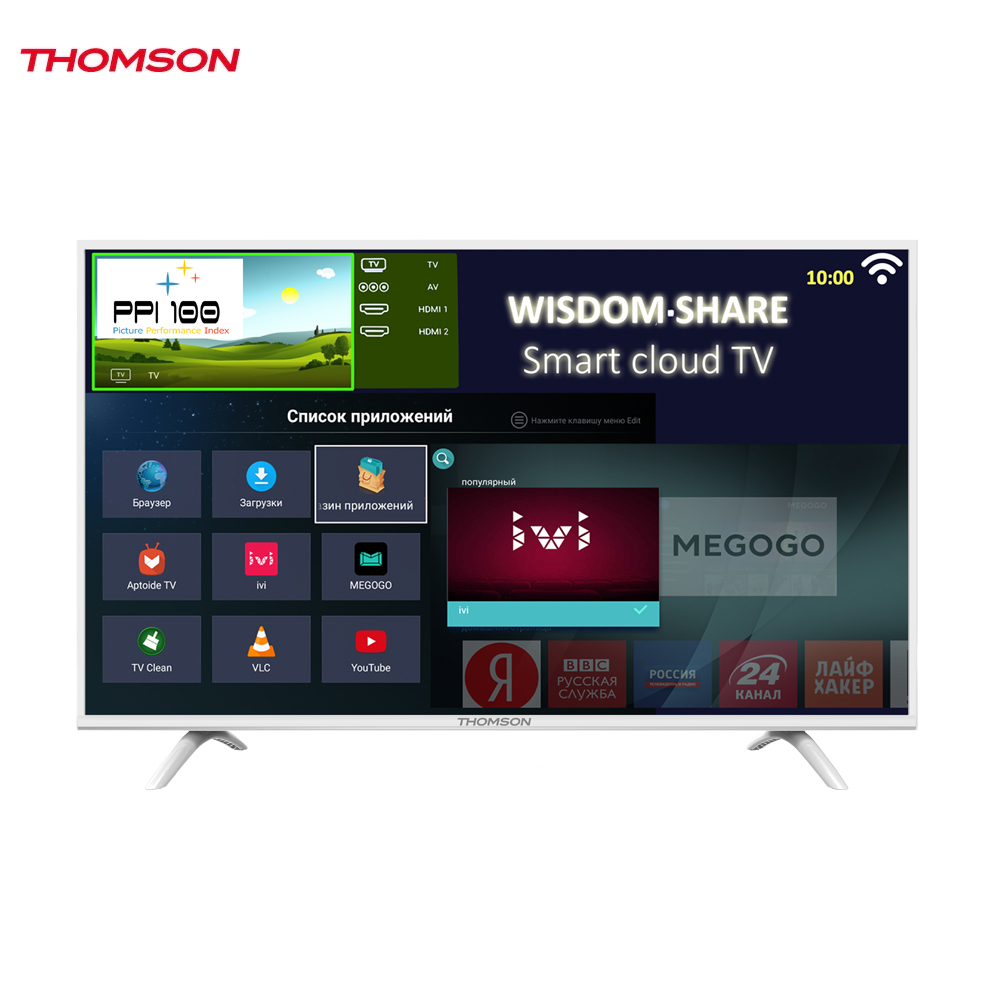 LED Television Thomson 1271611 smart tv for home dvb-t2 digital 43inch thomson t32d19dhs 01b t2 smart