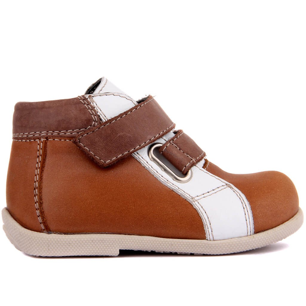 Sail Lakers-Tan Leather Baby Shoe