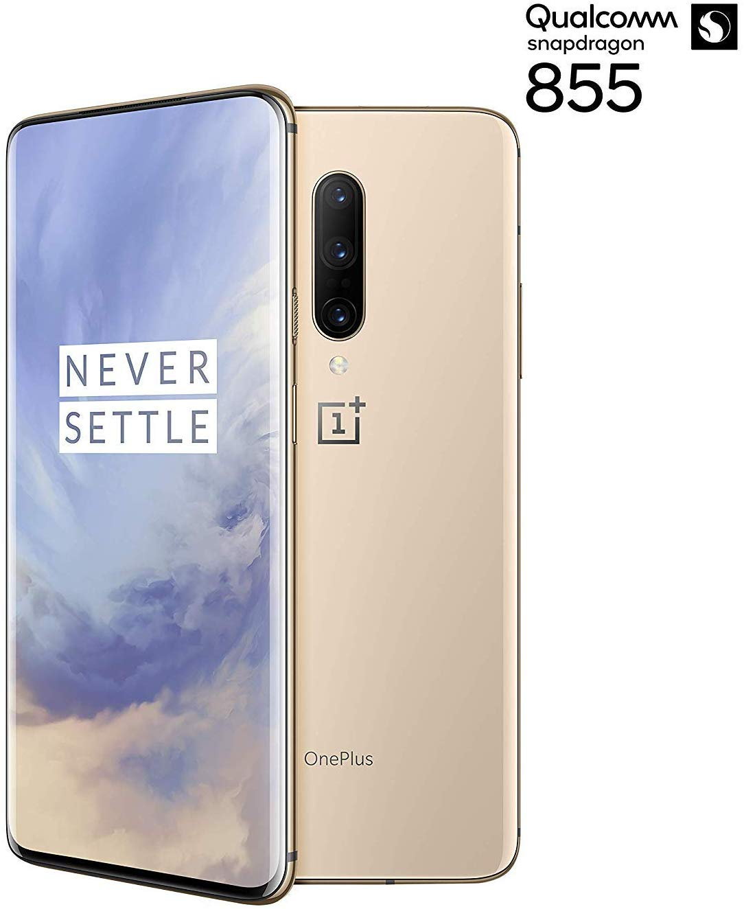 Phone OnePlus 7 Pro, Almond Color Gold, 256 GB Internal Memory 8 GB Of RAM, Dual Sim, AMOLED Screen 6,67