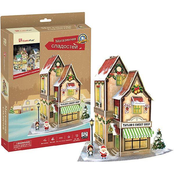 3D puzzle CubicFun Christmas sweet shop