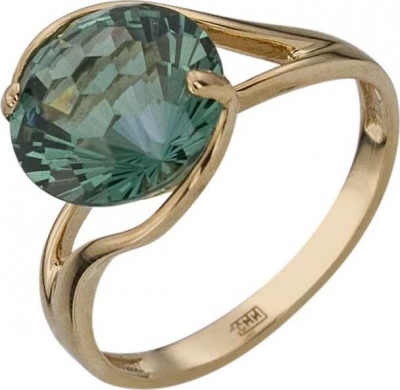 Aloris Ring With 1 Aquamarine In Red Gold