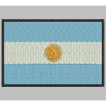Bandera ARGENTINA Para Mascarilla Parche Bordado Iron Patch Toppa Ricamata Gestickter Patch Patch Brode
