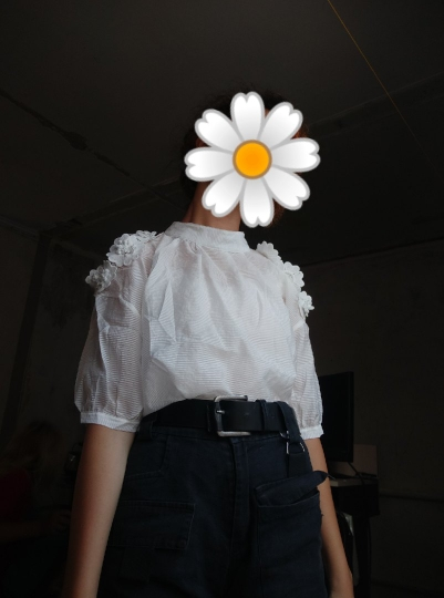 Summer Korean New Loose White Blouse Short Sleeve Chiffon Shirt Female Solid Color Lace Sweet Beauty Shirt Women Clothing photo review