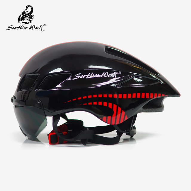 Capacete de bicicleta dos homens casco ciclismo estrada mtb mountain bike triathlon tt ciclismo capacete lente óculos equipa da bicicleta 3